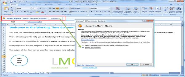 Excel makro bezpečnosť